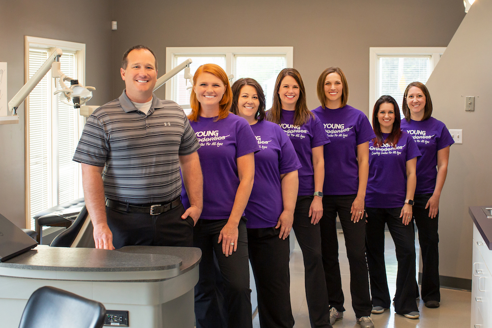 staff at an orthodontic office in Evansville, IN